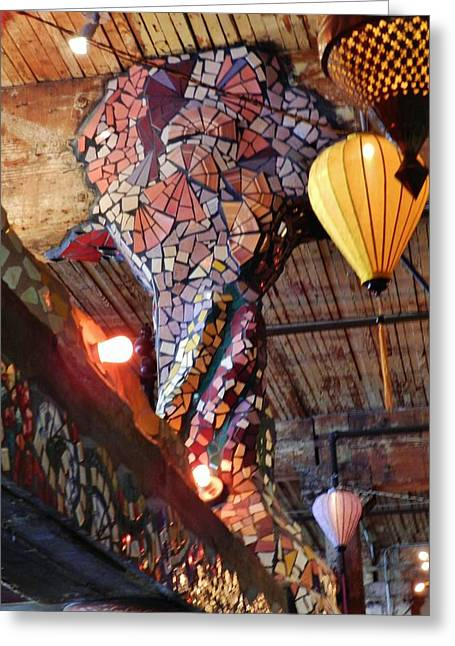 Mosaic Ceramics Greeting Cards - Mosaics at the Crystal Ballroom Greeting Card by Charles Lucas