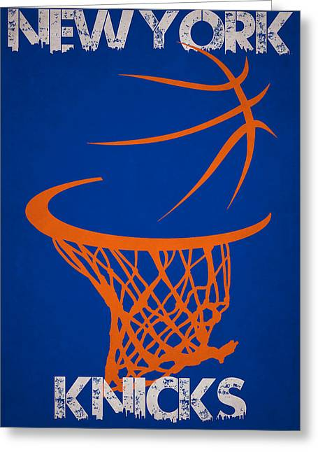 Dunk Greeting Cards - New York Knicks Greeting Card by Joe Hamilton
