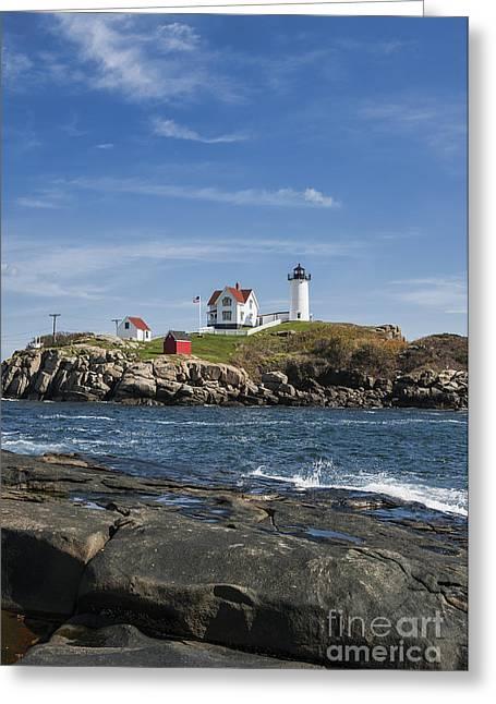 Cape Neddick Greeting Cards - Nubble Lighthouse Greeting Card by John Greim