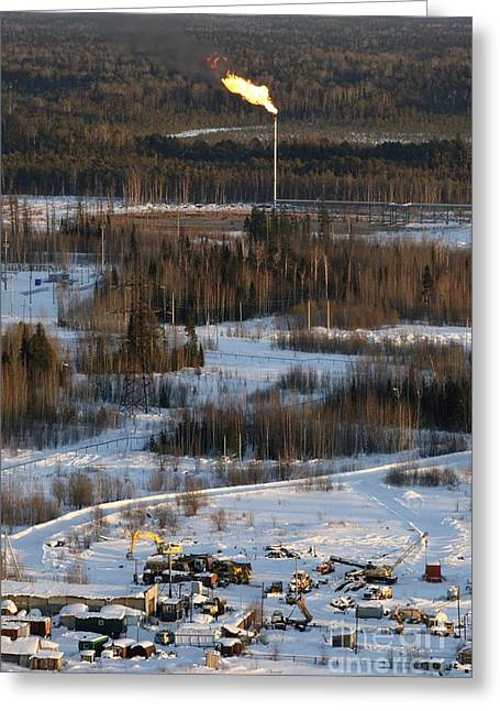 Oil Portrait Photographs Greeting Cards - Oil Field Greeting Card by RIA Novosti