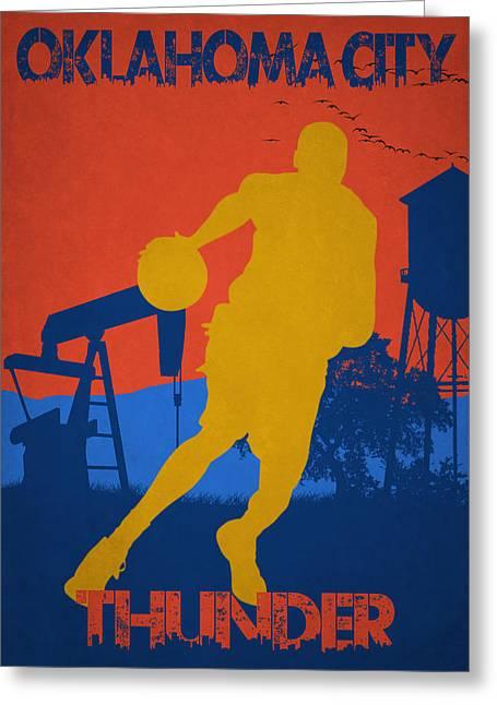 Kevin Durant Greeting Cards - Oklahoma City Thunder Greeting Card by Joe Hamilton