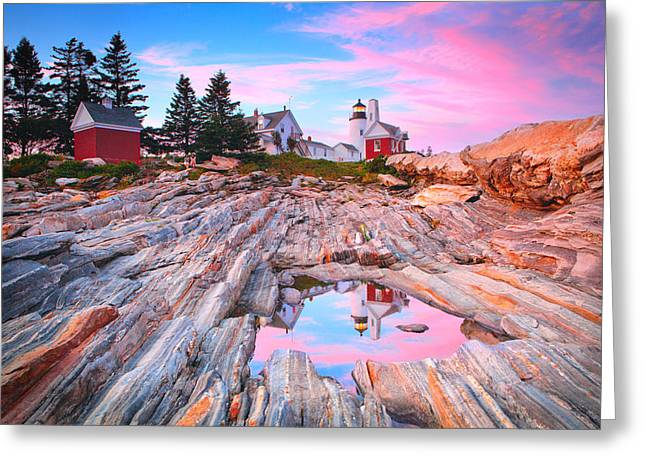 Pemaquid Lighthouse Greeting Cards - Pemaquid Lighthouse Greeting Card by Emmanuel Panagiotakis
