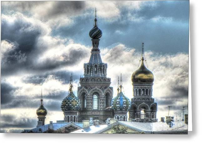 People Pyrography Greeting Cards - Peterburg Greeting Card by Yury Bashkin
