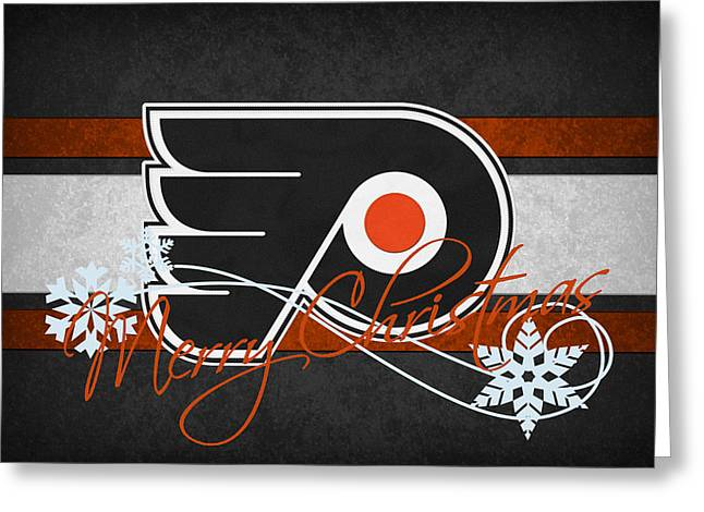 Philadelphia Greeting Cards - Philadelphia Flyers Greeting Card by Joe Hamilton