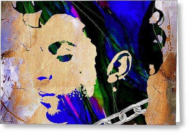 Pop Art Greeting Cards - Prince Collection Greeting Card by Marvin Blaine
