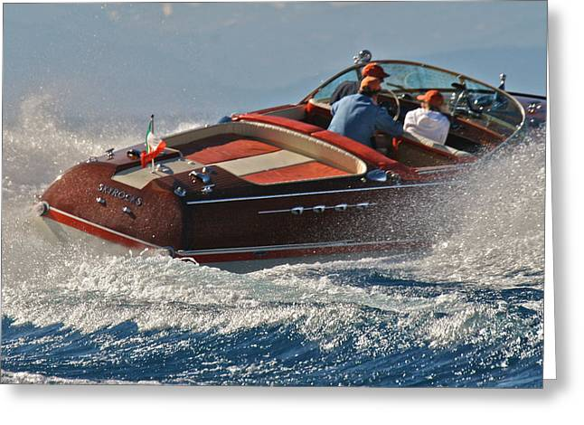 Runabout Greeting Cards - Riva Aquarama Greeting Card by Steven Lapkin