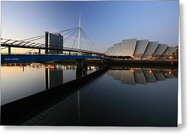 Glasgow Greeting Cards - River Clyde Reflections  Greeting Card by Grant Glendinning