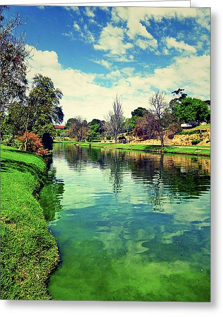 Book Cover Art Greeting Cards - River Greeting Card by Girish J