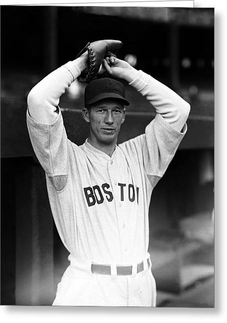 Boston Red Sox Greeting Cards - Robert M. Lefty Grove Greeting Card by Retro Images Archive