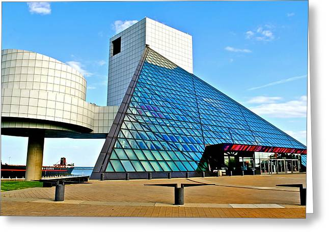 Rolling Stones Photographs Greeting Cards - Rock and Roll Hall of Fame Greeting Card by Frozen in Time Fine Art Photography