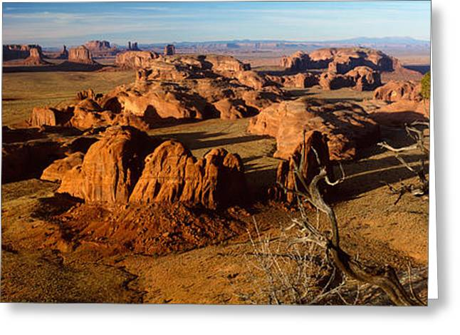 Bare Trees Greeting Cards - Rock Formations On A Landscape Greeting Card by Panoramic Images