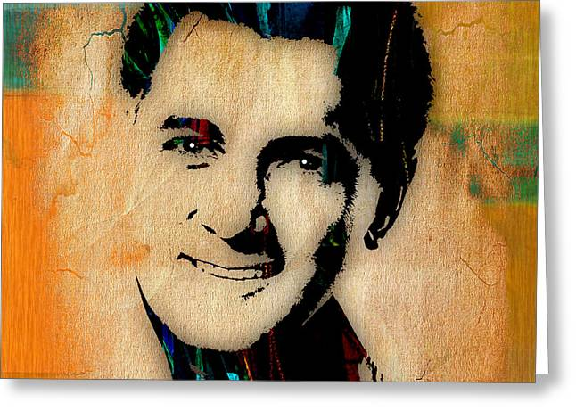 Movie Greeting Cards - Rock Hudson Collection Greeting Card by Marvin Blaine