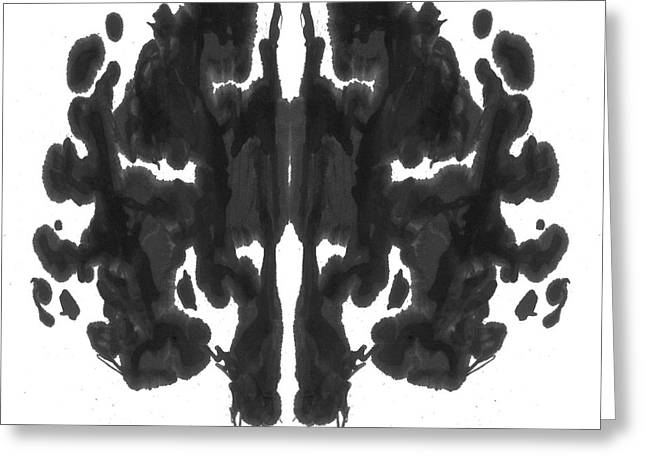 Psychology Photographs Greeting Cards - Rorschach Type Inkblot Greeting Card by Spencer Sutton
