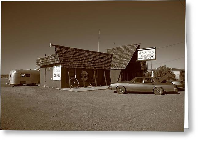 Baghdad Framed Prints Greeting Cards - Route 66 - Bagdad Cafe Greeting Card by Frank Romeo
