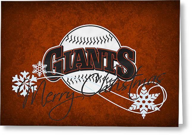 Baseball Field Greeting Cards - San Francisco Giants Greeting Card by Joe Hamilton
