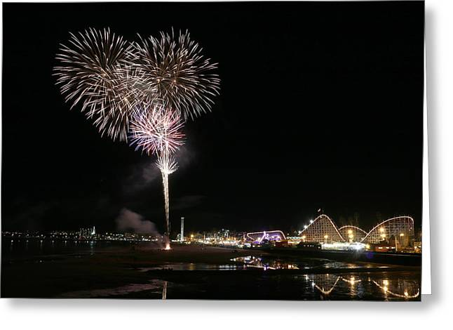 Santa Cruz Wharf Greeting Cards - Santa Cruz Wharf 100 Year Anniversary Greeting Card by Jon Jochens