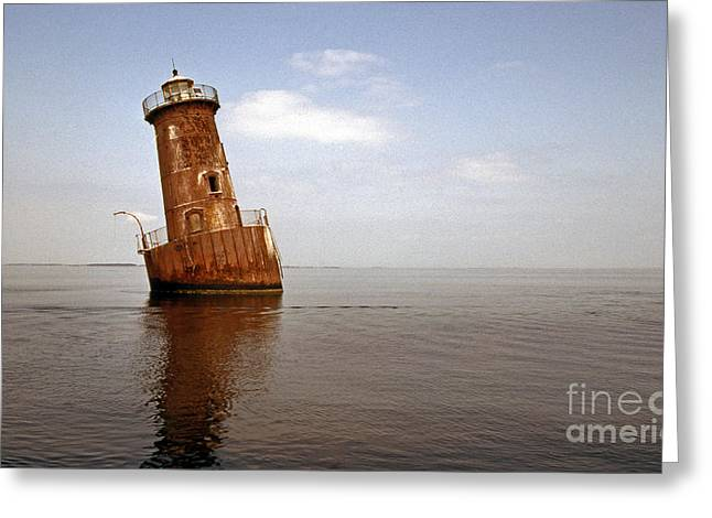 Md Greeting Cards - Sharps Island Lighthouse Greeting Card by Skip Willits