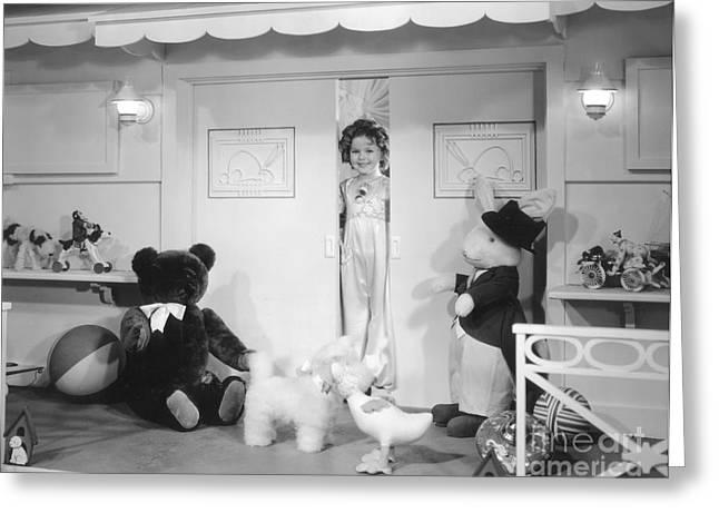 Pajamas Photographs Greeting Cards - Shirley Temple Greeting Card by MMG Archive Prints