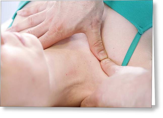 Shoulder Physiotherapy Greeting Card by Thomas Fredberg