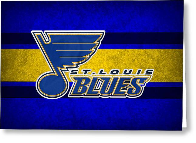 Skating Greeting Cards - St Louis Blues Greeting Card by Joe Hamilton