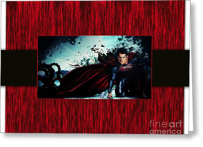 Superheroes Greeting Cards - Superman Greeting Card by Marvin Blaine