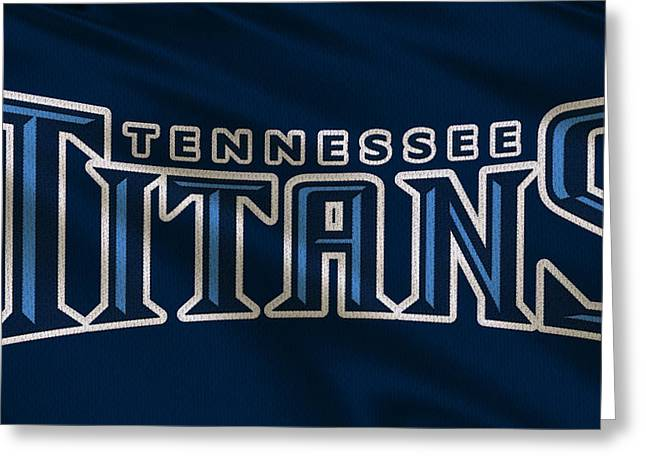 Ball Greeting Cards - Tennessee Titans Uniform Greeting Card by Joe Hamilton