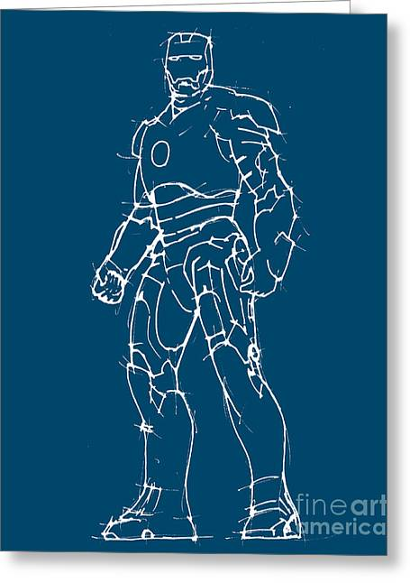 Avengers Drawings Greeting Cards - The Avengers - Iron Man Greeting Card by Pablo Franchi