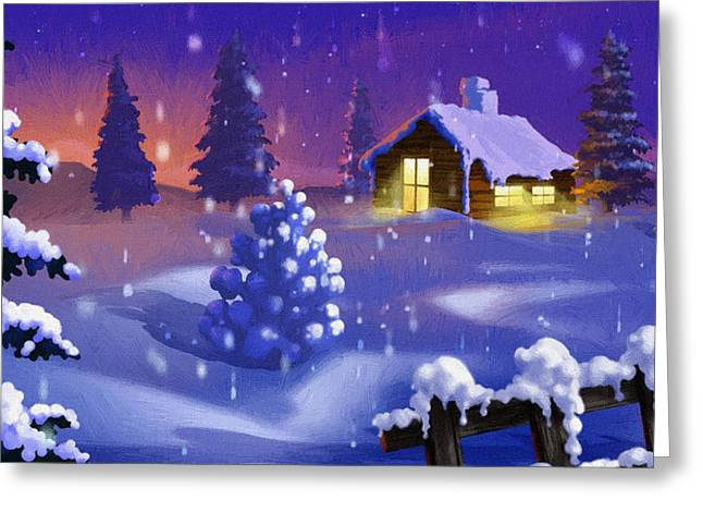 Christmas Card Ideas Greeting Cards - The Christmas Greeting Card by Victor Gladkiy