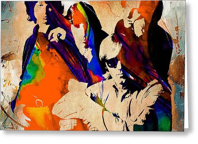 Rock And Roll Greeting Cards - The Doors Collection Greeting Card by Marvin Blaine