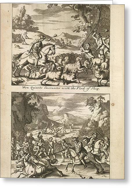 The History Of Don Quixote Greeting Card by British Library