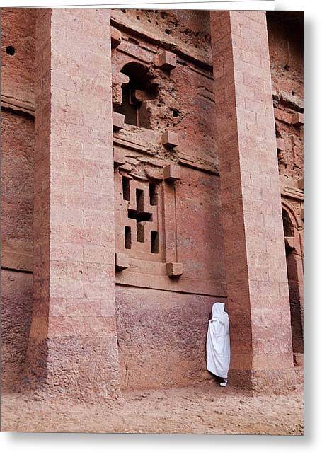 The Rock-hewn Churches Of Lalibela Greeting Card by Martin Zwick