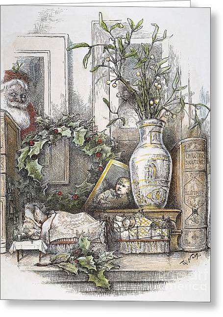 Nast Greeting Cards - Thomas Nast: Christmas Greeting Card by Granger