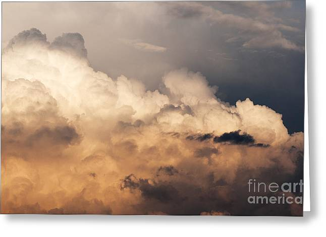 Thunderhead Greeting Cards - Thunderhead at Sunset Greeting Card by Thomas R Fletcher