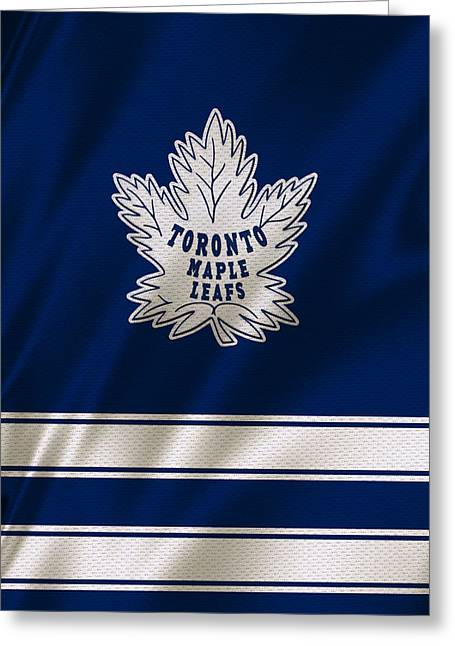 Goals Greeting Cards - Toronto Maple Leafs Greeting Card by Joe Hamilton