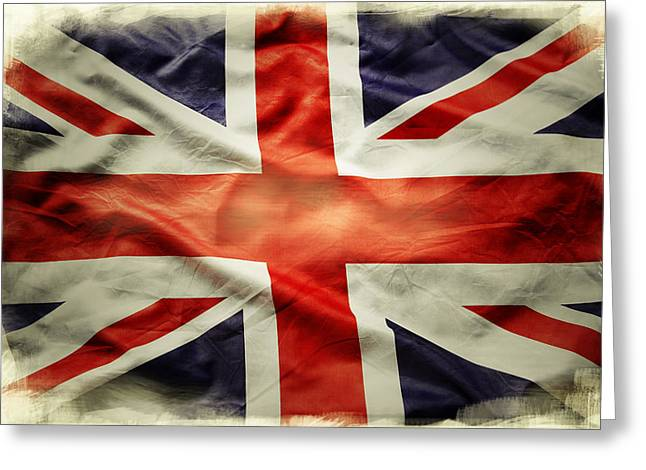 Celebrating Freedom Greeting Cards - Union Jack  Greeting Card by Les Cunliffe