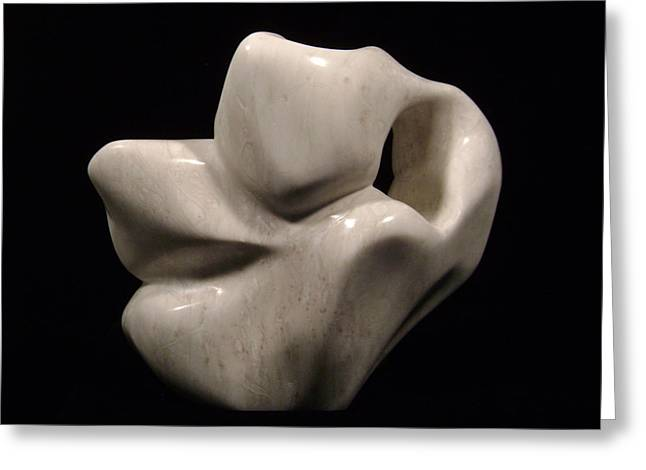 Alabaster Sculptures Greeting Cards - Untitled Greeting Card by Charles Luna