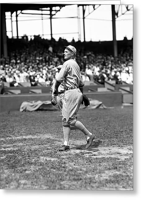 Red Sox Hall Of Fame Greeting Cards - Urban C. Red Faber Greeting Card by Retro Images Archive