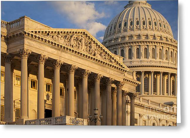 Federal Government Greeting Cards - US Capitol Greeting Card by Brian Jannsen