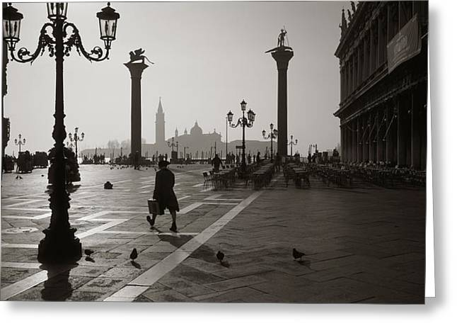 Campo Greeting Cards - Venice Italy Greeting Card by Panoramic Images