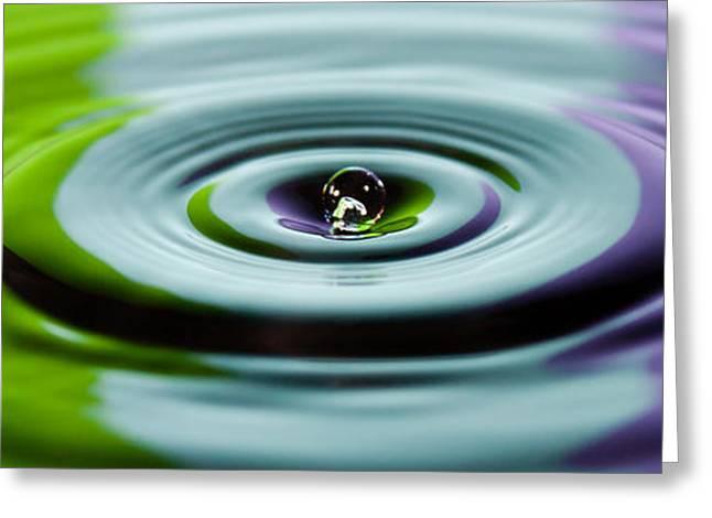 Abstract Rain Greeting Cards - Water drop Greeting Card by Gyorgy Kotorman