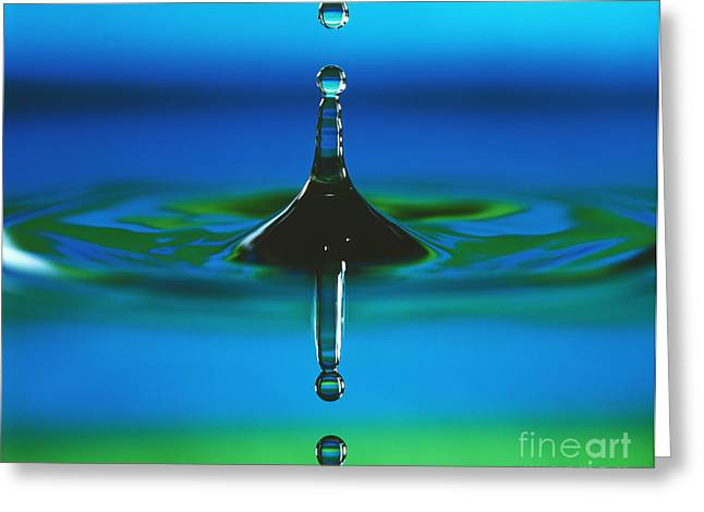 High Speed Photography Greeting Cards - Water Drop Impact Greeting Card by Adam Hart-Davis