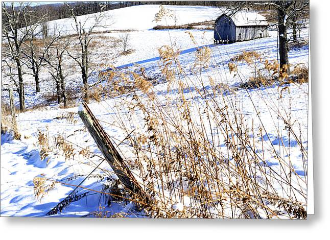 Nicholas Greeting Cards - West Virginia Farm Greeting Card by Thomas R Fletcher