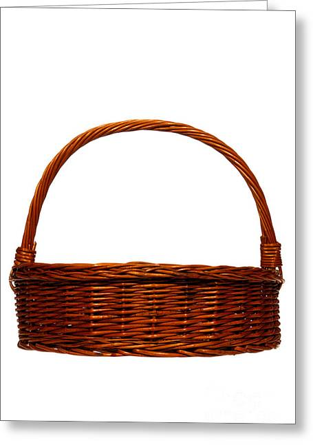 Wicker Baskets Greeting Cards - Wicker Basket Greeting Card by Olivier Le Queinec