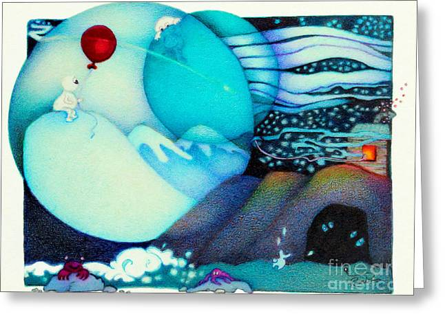 Licensor Greeting Cards - Woobies Character Baby Art Colorful Whimsical Design by Romi Neilson Greeting Card by Megan Duncanson