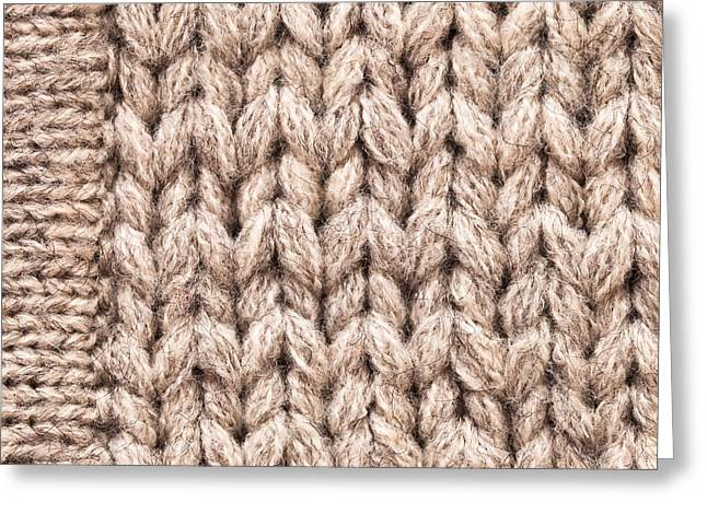 Knitwear Greeting Cards - Wool background Greeting Card by Tom Gowanlock