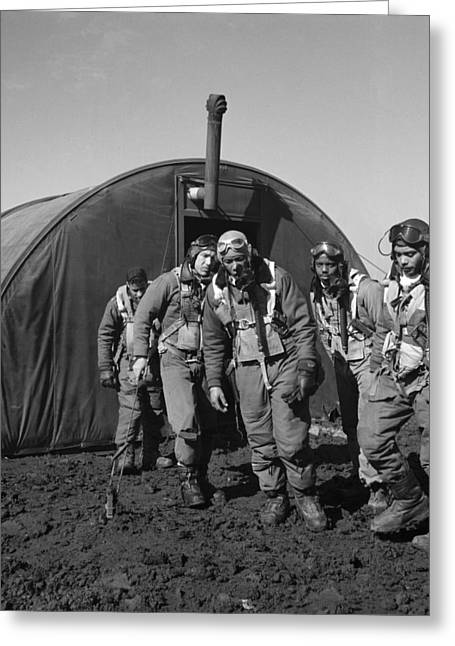 Gaines Greeting Cards - Wwii: Tuskegee Airmen, 1945 Greeting Card by Granger