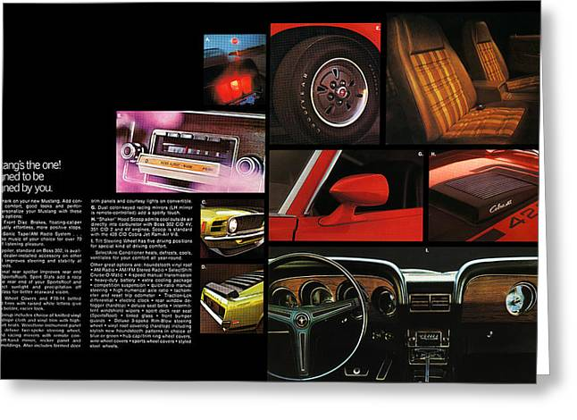 8 Track Player Greeting Cards - 70 Mustang Options Greeting Card by Digital Repro Depot