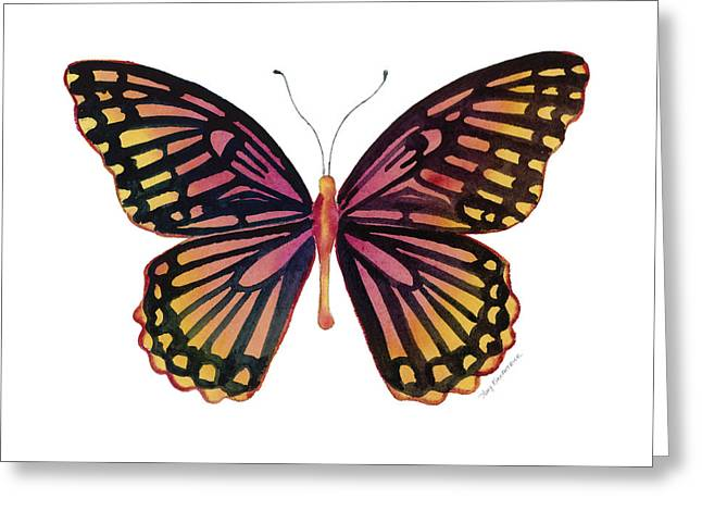 Background Paintings Greeting Cards - 70 Sunrise Mime Butterfly Greeting Card by Amy Kirkpatrick