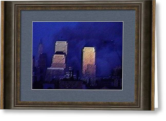 Wtc 11 Mixed Media Greeting Cards - Tuesday Morning in September Greeting Card by Kosior