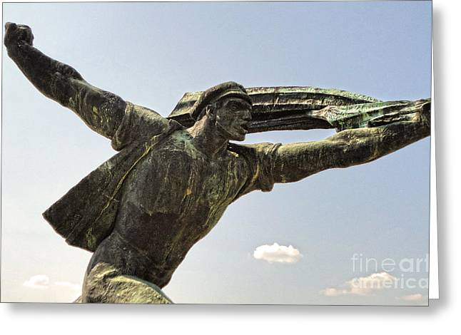Budapest Memento Park-communist Statues Park Greeting Card by Gregory Dyer